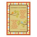 """""""Overheard in an Orchard"""" (Robin & Sparrow) Poem Custom Announcements"""