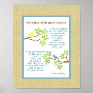 Overheard in an Orchard (Robin & Sparrow) Print