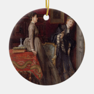 Overheard (oil on panel) ceramic ornament