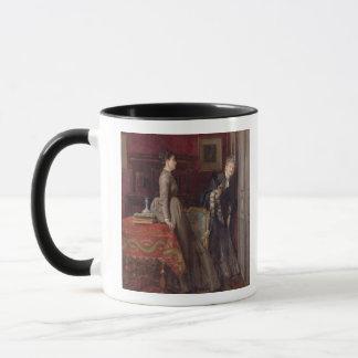 Overheard (oil on panel) mug