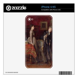 Overheard (oil on panel) iPhone 4S skins