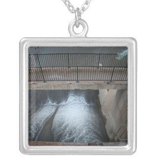 Overholser Dam Square Pendant Necklace