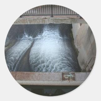 Overholser Dam Classic Round Sticker
