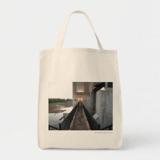Overholser Dam Walkway Grocery Tote Bag