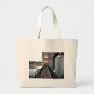 Overholser Dam Walkway Jumbo Tote Bag
