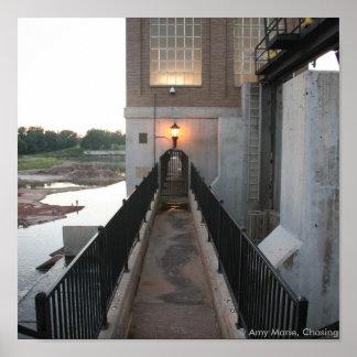 Overholser Dam Walkway Poster