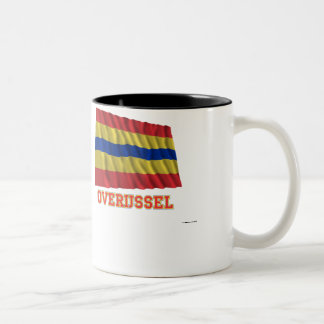 Overijssel Waving Flag with Name Two-Tone Coffee Mug