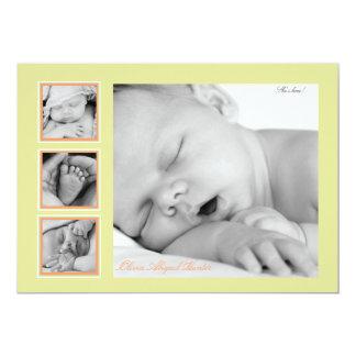 Overjoyed - invitación del nacimiento de la foto