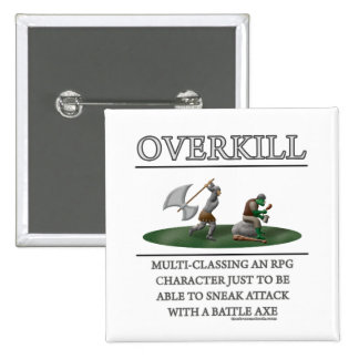 Overkill Fantasy (de)Motivator 2 Inch Square Button