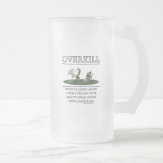 Overkill Fantasy (de)Motivator Frosted Glass Beer Mug