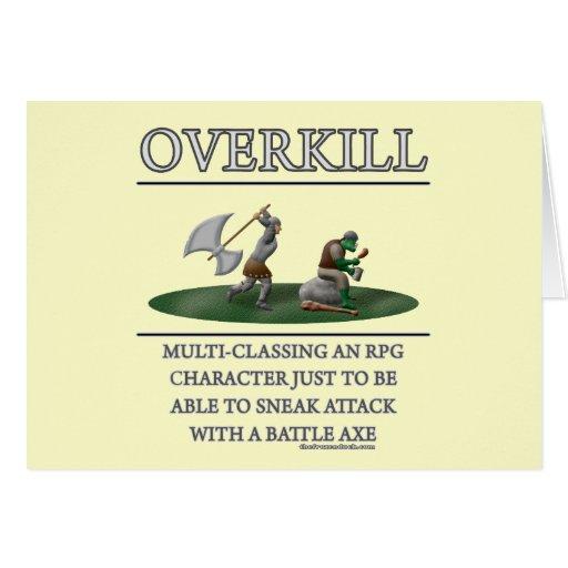 Overkill Fantasy (de)Motivator Greeting Card