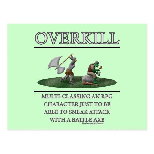 Overkill Fantasy (de)Motivator Postcard