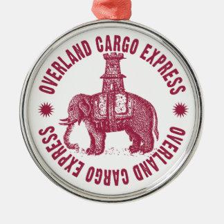 Overland Cargo Express Elephant Metal Ornament