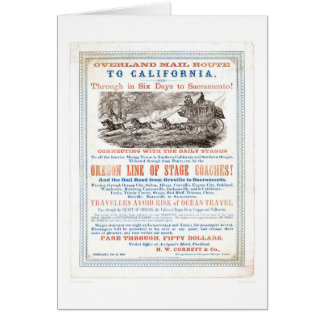 Overland Mail Route to CA. (1257A) - Restored Card