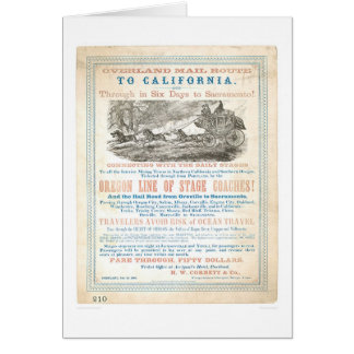 Overland Mail Route to CA 1866 (1257A) -Unrestored Card