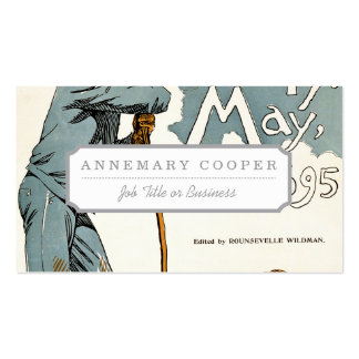Overland Monthly. May, 1895 Business Card