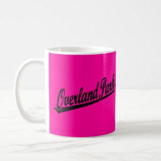 Overland Park script logo in black distressed Coffee Mug