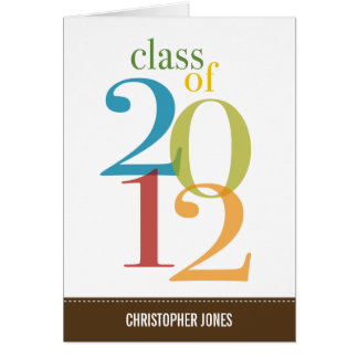 Overlapped Colors Graduation Thank You Card Card