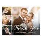 Overlapped Photos Wedding Thank You Card Postcard