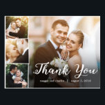 "Overlapped Photos Wedding Thank You Card Postcard<br><div class=""desc"">Sending out your thank you note will be a breeze with this chic and stylish thank you postcard. Visit our designs showroom at WWW.BERRYBERRYSWEET.COM</div>"