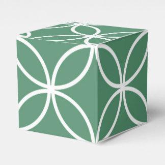 Overlappin circunda el modelo del blanco de la cajas para regalos de fiestas