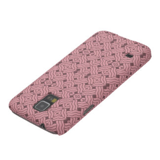 Overlapping art deco lines tiles, light amaranth case for galaxy s5