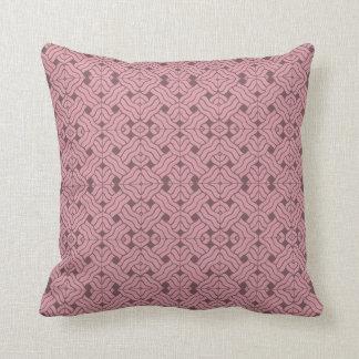Overlapping art deco lines tiles, light amaranth pillow