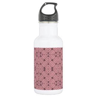Overlapping art deco lines tiles, light amaranth water bottle