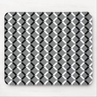 Overlapping Black and White Zigzag Lines Mousepads
