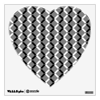 Overlapping Black and White Zigzag Lines Wall Decal