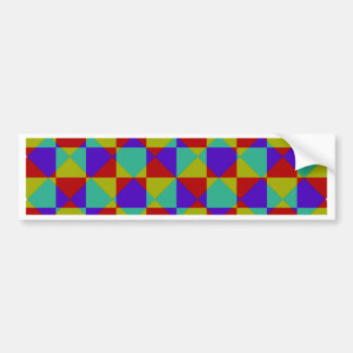 Overlapping Checker Bumper Sticker