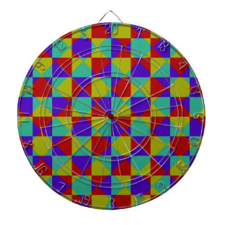 Overlapping Checker Dart Board