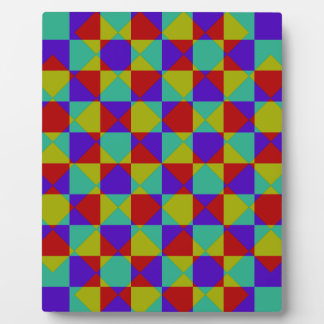 Overlapping Checker Plaque
