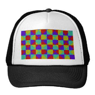 Overlapping Checker Trucker Hat