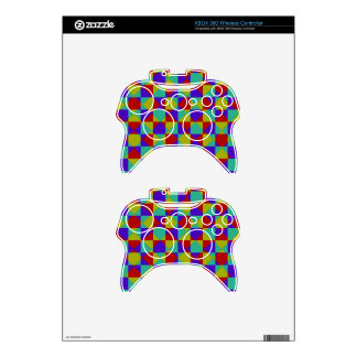 Overlapping Checker Xbox 360 Controller Skins