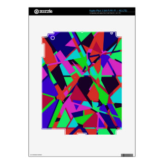 Overlapping Colored Shapes iPad 3 Skin
