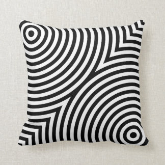 Overlapping Concentric Circles Pillow