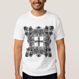 Overlapping Dragonflies Squared Shirt