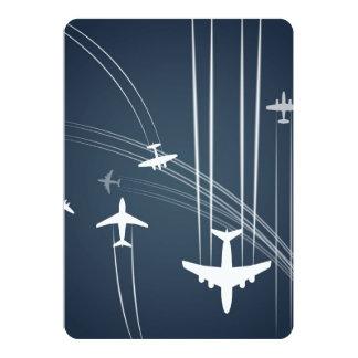 Overlapping Flight Paths Pattern 5x7 Paper Invitation Card