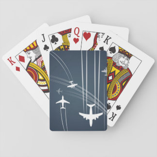 Overlapping Flight Paths Pattern Poker Cards