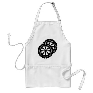 Overlapping flower-shaped Genji carts Adult Apron