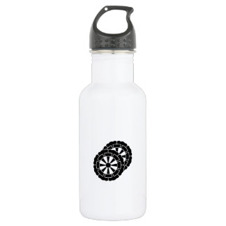 Overlapping flower-shaped Genji carts Stainless Steel Water Bottle