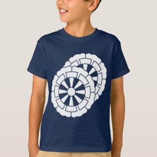 Overlapping flower-shaped Genji carts T-Shirt