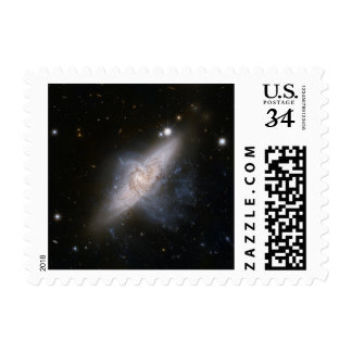 Overlapping Galaxies Space Stars Universe Stamp