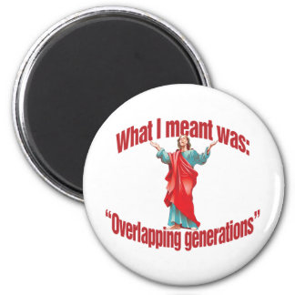 Overlapping Generations 2 Inch Round Magnet