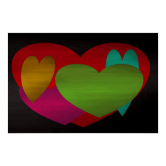 Overlapping Hearts Poster