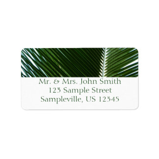 Overlapping Palm Fronds Return Address Label