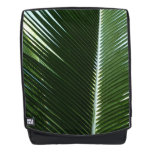 Overlapping Palm Fronds Tropical Green Abstract Backpack