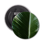 Overlapping Palm Fronds Tropical Green Abstract Bottle Opener