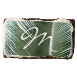 Overlapping Palm Fronds Tropical Green Abstract Brownie